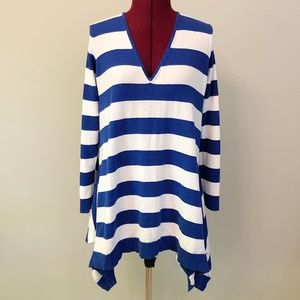 Tommy Bahama | Striped Beach Sweater Cover-Up